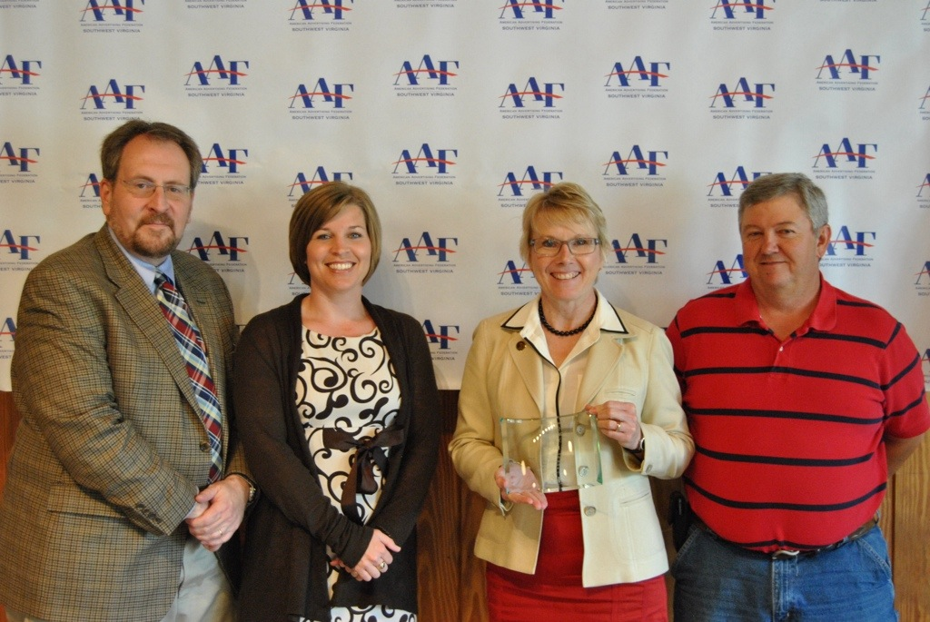 AAF SWVA Presents Silver District 3 ADDY to the University of Virginia's College at Wise
